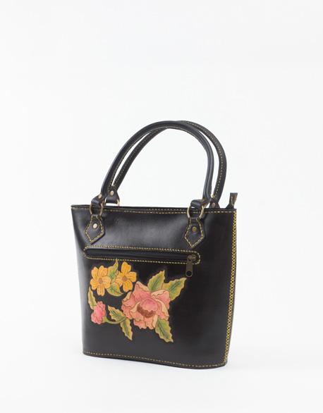 Hand seam carving handbag