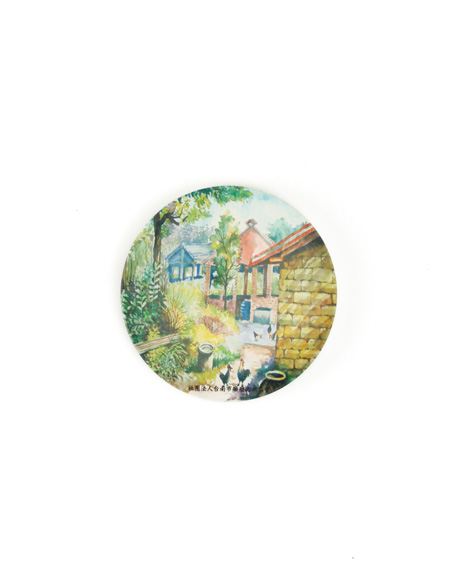 Garden-painted ceramic water absorbent coaster