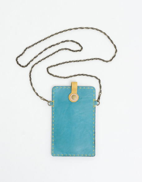 Back hand sewn to the side cell phone Pocket (blue)