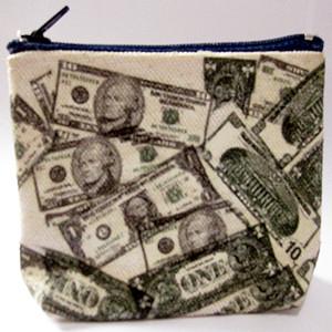DIY Fashion Dollar Wallet ~ Navy zipper -1~zina 000060