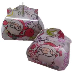 Hand Santa Claus and rabbit small gift box ~zina 000041