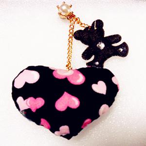 Fashion Handmade dust stopper pendant-head drill -28~ pocket Love pillow stick drill cubs-pink small love ~zina 000462