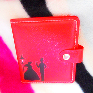 A romantic certificate; business Card leather bag ~ Red 03~zina 000718
