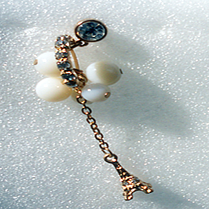 Fashion hand-dust-proof ornaments-head drilled Pearl diamond ring fashion the Eiffel ~Zina 37~ fruit 000655