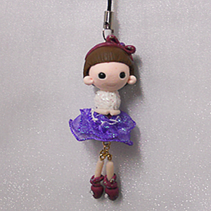 Creative Mobile phone charms q7-8~ activity super cute girl ~zina 000442
