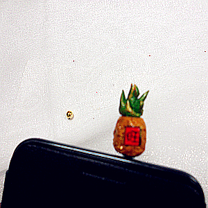 Exclusive first most rammed handmade mobile phone headset dust Plug ~n9-1~ pineapple-zina 000362