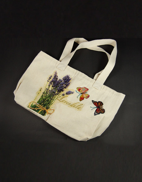 Hand-painted patchwork bag
