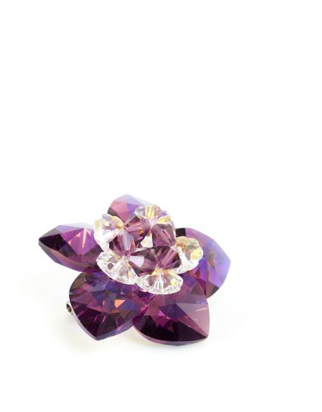 Swarovski Flower Brooch
