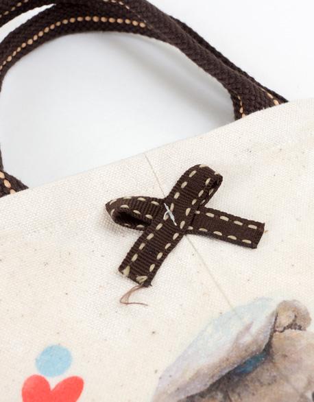 Navy Bear Kettle Bag