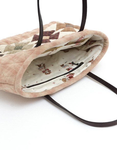 Small flower Leather Patchwork bag