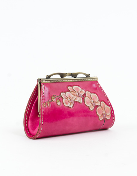 Lucky Orchid Mouth Gold Bag