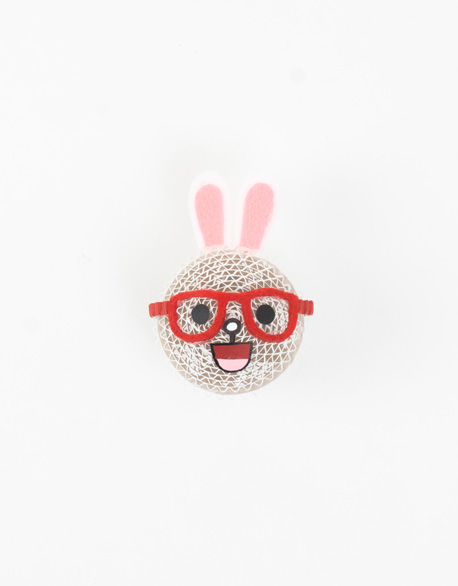 Rabbit Magnet with Glasses