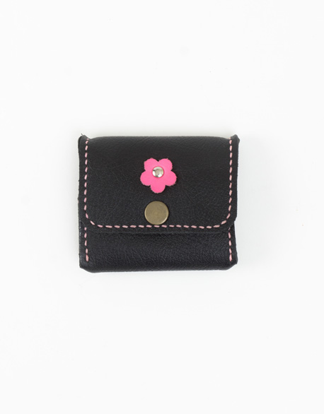Small flower Soft Leather 0 Wallet