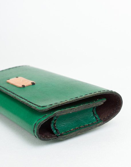 Hand-stitched I-phone 6 plus horizontal waist phone cover
