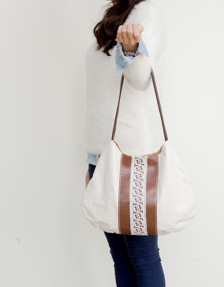 Lace shoulder backpack